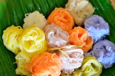 vermicelli: Color thai rice vermicelli