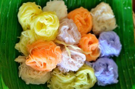 vermicelli: Color  rice vermicelli Stock Photo