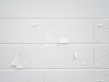 peeling: Color  peeling wall brick