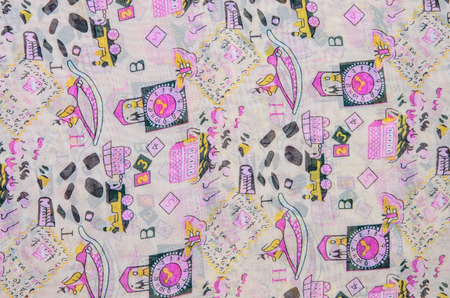crease: crease Clock of fabric background