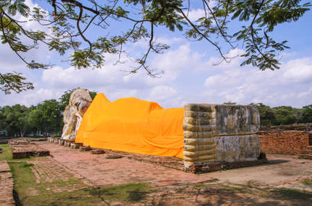 recline: Recline buddha Stock Photo