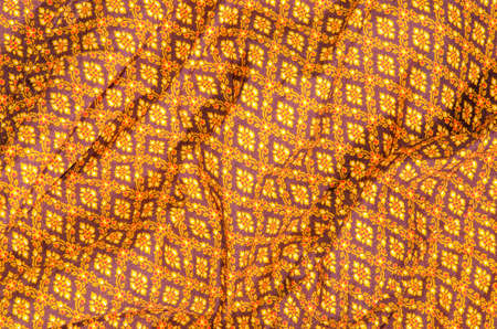 crease: Crease thai pattern of fabric background Stock Photo