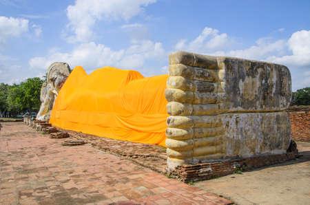recline: Wreck Recline buddha Stock Photo