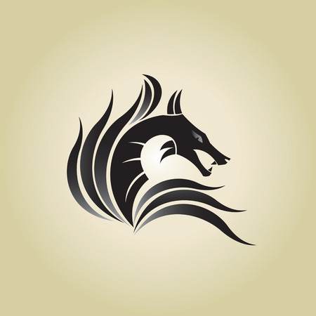 dragon ideas design vector illustration on background