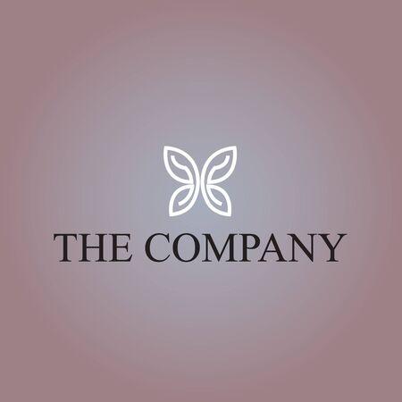 Illustrazione vettoriale di idee del logo di farfalla sullo sfondo