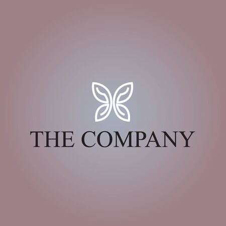 Butterfly logo ideas design vector illustration on background