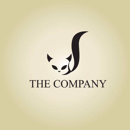 cat logo ideas design vector illustration on background