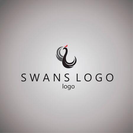swans: swans logo ideas design vector illustration on background Illustration