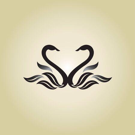 swans: swans ideas design illustration on background