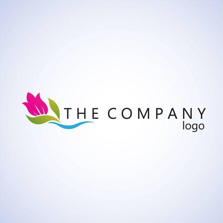 tulip logo ideas design vector illustration on background