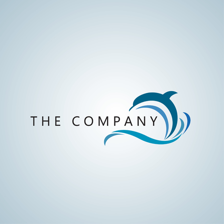 dolphin logo Stock Illustratie