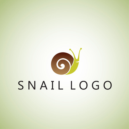 snail logo on background Ilustracja