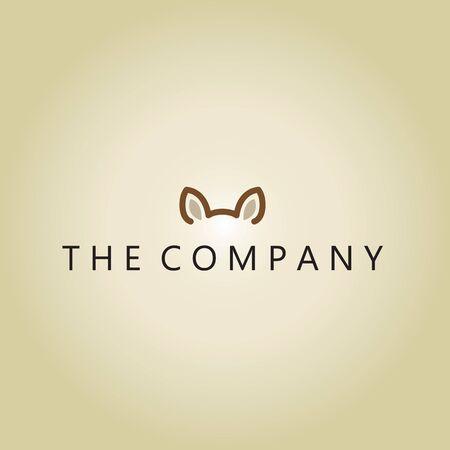dog logo on background