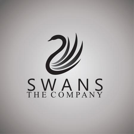 swans: swans logo on background Illustration