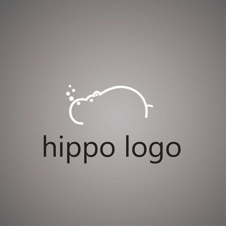 hippo logo on background