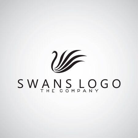 cisnes: logotipo de cisnes en el fondo
