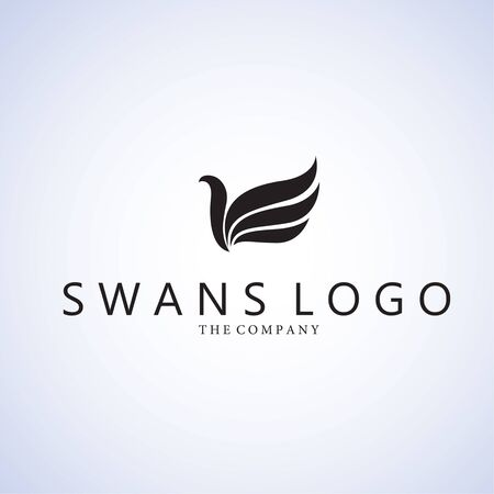 swans: Swans  logo ideas design vector illustration on background