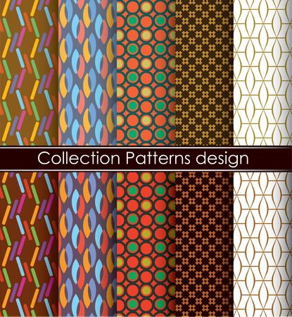 Pattern vector Color graphic collection on white Background Illustration