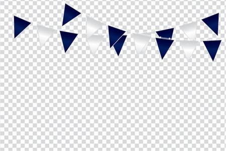 Triangular flag color ideas design vector illustration on  transparent background