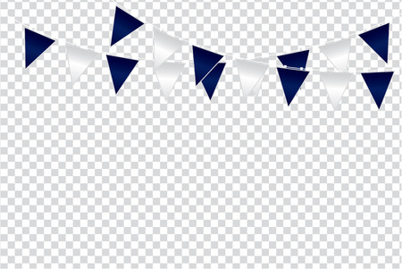 Triangular flag color ideas design vector illustration on  transparent background