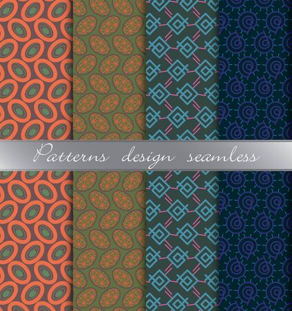 A vector damask seamless pattern background. pattern swatches included for illustrator , swatches
