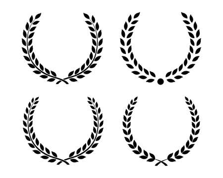 Best set Laurel Wreaths and branches. Wreath collection. Winner wreath. Awards. Vector illustration