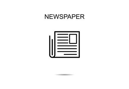Newspaper line icons vector illustration on background