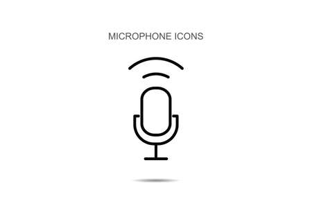 Microphone icon vector illustration on background