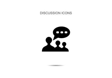 Discussion icon vector illustration on background