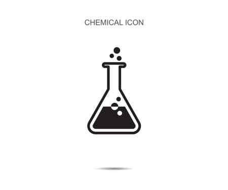 Chemical  tube pictogram icon vector illustration on background