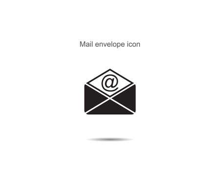 Mail envelope icon vector illustration on background