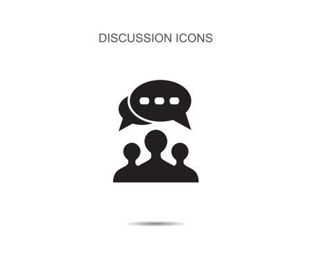 discussion icon vector illustration on background Illusztráció