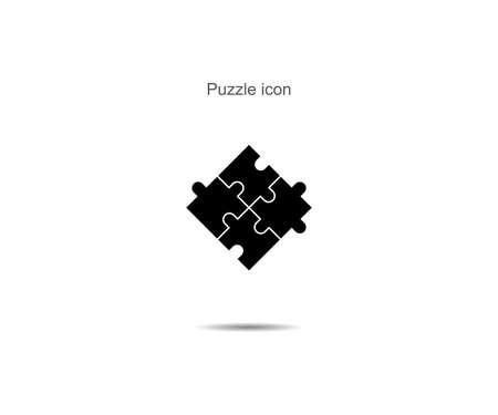 Puzzle icon vector illustration on background Illusztráció