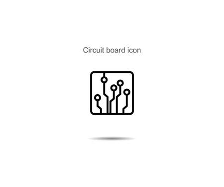 Circuit board icon  vector illustration on background