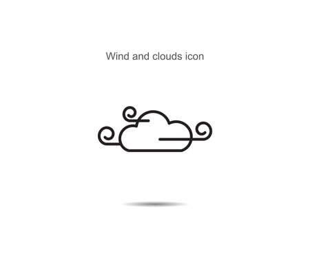 Wind and clouds  icon vector illustration on background Illusztráció