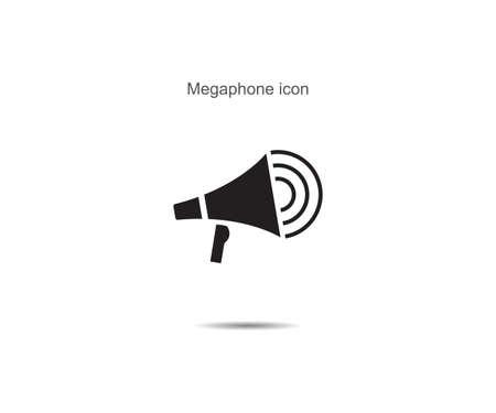 Megaphone  icon vector illustration on background