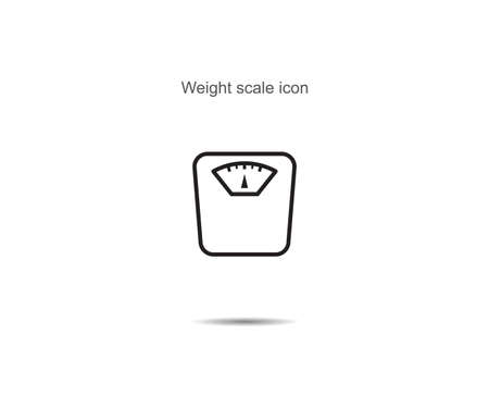 Weight scale icon vector illustration on background
