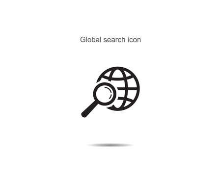 Global search icon vector illustration on background Illusztráció