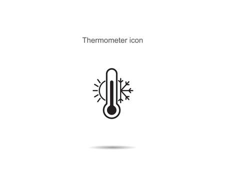 Thermometer  icon vector illustration on background