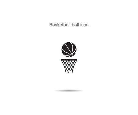 Basketball ball icon vector illustration on background