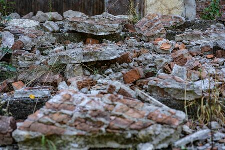 Destruction of the building fencing.Destruction of the building fencing Stock fotó