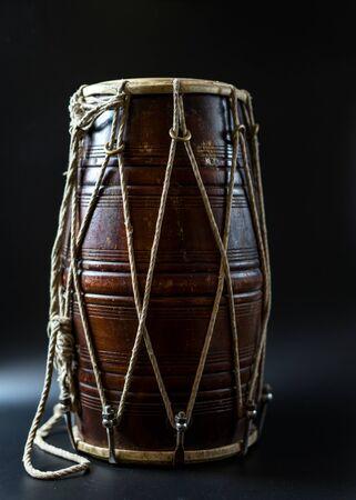 Hand drum on a black background.Hand drum on a black background
