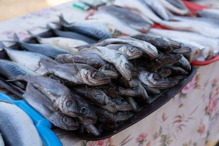 Fish on the counter for sale.Fish on the counter for sale.