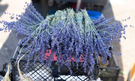 Lavender on the counter for sale.Lavender on the counter for sale.