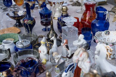 Various goods at the fair.Various goods at the fair