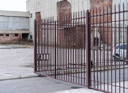Automatic metal gate for entry.Automatic metal gate for entry