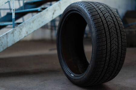 Car tire with low profile rubber