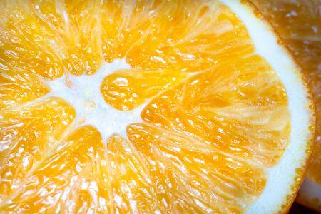 Macro photo of a juicy orange