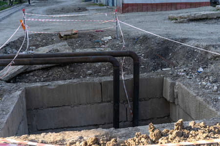 Pipes laid in the ground