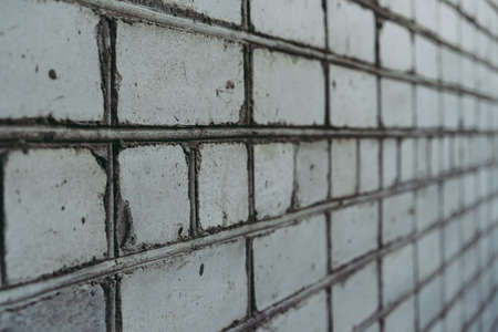 White brick wall as background and texture